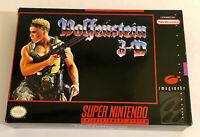 Wolfenstein 3D (SNES) Video Game Cartridge, Manual, & Box (Super Nintendo) 3-D