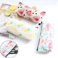 New Students Stationery Pencil Pen Case Cosmetic Makeup Bag Zipper Pouch Purse