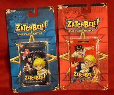 Zatchbell! Zatch Bell! Card Battle Booster Pack Blue & Red Ban Dai TCG NEW LOT 2