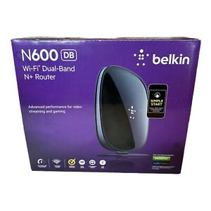Belkin N600 DB - Wi-Fi Dual Band N+ Router 300Mbps Black NIB Sealed