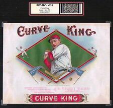 Curve King - Christy Mathewson Baseball 1909 RARE ORIGINAL Cigar Box Label #3217