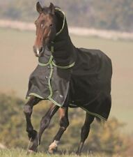 Shires Highlander Plus 350g Combo Turnout Horse Rugs With Neck - black 7'0