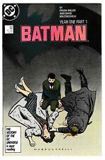 BATMAN #404 (VF/NM) Origin of Bruce Wayne! Frank Miller DC 1987 YEAR ONE PART 1