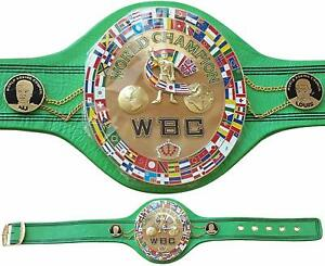 WBC Jeff Championship Boxing Belt Replica 3D Center Plate Genuine Leather Adult