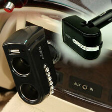 USB Port Twin Way Car Cigarette Lighter 2 Socket Splitter Dual Charger Adapter .