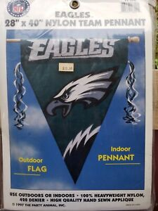 "Philadelphia Eagles-Appliquéd Nylon Flag/Pennant-28""x40""-NFL"