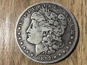 1 Morgan Dollar 1892 O/1892 S# 139/1#