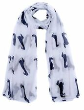 White Dachshund Dogs Print Ladies Fashion Maxi Scarf Wrap Sarong Soft Warm