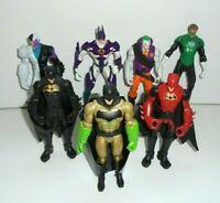 """DC JLA JUSTICE LEAGUE BATMAN SUPER HEROES VILLAINS JOB LOT BUNDLE 6"""" FIGURES SH4"""