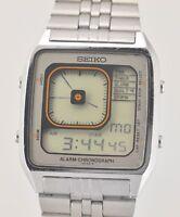 Rare 1981 SEIKO G757 405A Ani Digi Borg LCD All Working Wrist Watch In Box