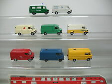 Ai739-1# 8x Wiking h0 TRANSPORTER MERCEDES MB 280-282+27: farmacia + Polizia etc