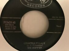 "BIG  BOPPER   7""  SINGLE , CHANTILLYLACE     /  PURPLE  PEOPLE EATER  MEETS WITC"