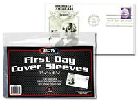 FDC Sleeves First Day Cover Holders 100 Postcards Photos BCW Ultra Thin US Free