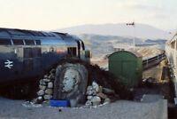 PHOTO  RANNOCH RAILWAY STATION MEMORIAL STONE