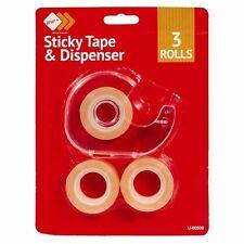 Mini Tape Dispenser Desktop Office Sellotape Sticky Cellotape Pack UK POST