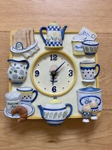 Wall Clock Suit Kitchen
