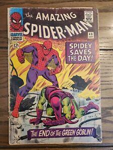 "The AMAZING SPIDER-MAN #40 ""1966"". 1st Told ORIGIN of GREEN GOBLIN!"