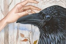 LE #1 4X6 POSTCARD RYTA RAVEN CROW PORTRAIT NATURE BIRD ADUBON SOCIETY FINE ART