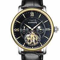 Tourbillon Mens Automatic Mechanical Wrist Watches Swiss Luxury Sapphire Crystal