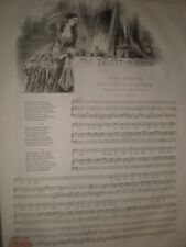 The Toilet Mirror by Bailey & Hatton 1845 old music sheet ref D