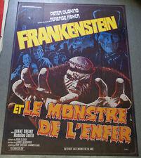 Affiche cinéma : FRANKENSTEIN ET LE MONSTRE DE L'ENFER Terence FISHER - CUSHING