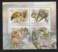 TOGO 2012 BIRD STAMPS OWLS SS MNH - BIRDL537