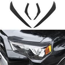 Real Carbon Fiber Headlight Eyebrow Eyelid Cover For Toyota 4Runner 2010-2020