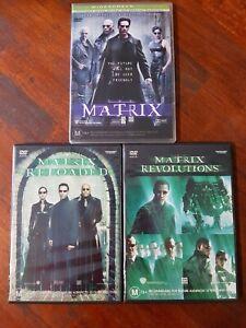 The Matrix + Reloaded + Revolutions - The Matrix Trilogy DVD, Region 4, VGC