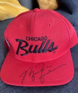 Michael Jordan VINTAGE Hand-Signed Autographed Red Chicago Bulls Cap - no coa