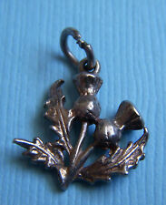 Vintage two thistles Scotland sterling charm