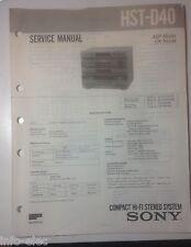 Schema SONY - Service Manual Compact Hi-Fi Stereo System HST-D40 HSTD40