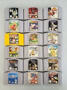 Lot Of 18 Nintendo 64 N64 Games; Super Mario 64, Mario Kart 64, DK 64, Yoshi's