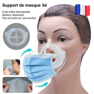 Support Pour Masque 3D Respirant Coque Protège Maquillage anti buée confort