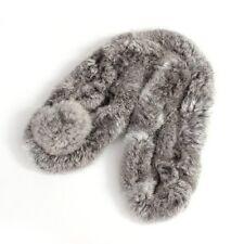 Rabbit Fur Short Collar Neck Warmer Scarf Warm Wrap Gray HY
