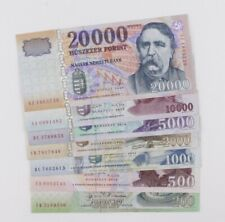 More details for 2004-2012 hungary 200-20000 forints 7 banknotes full set job lot vf to unc