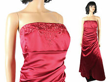 NWT Davids Bridal Dress 20 2X XXL Long Strapless Beaded Red Prom Bridesmaid Gown