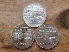(3 )1967 Finland silver 10 Markkaa  @@must see@@