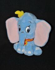 Peluche doudou éléphant dumbo médaillon DISNEY NICOTOY bleu chapeau 15 cm TTBE