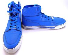 Shmack Shoes Crowbar Leather Hi Stars Athletic Blue Sneakers Size 13