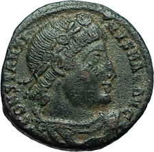 CONSTANTINE I the GREAT 330AD Authentic Ancient Roman Coin w SOLDIERS i66329