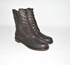 New! Aquatalia by Marvin K Quilted Leather Combat Boots Espresso Sz 11 $495