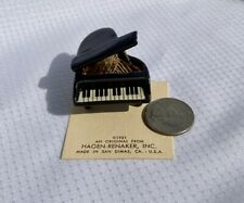 Vintage Retired Hagen-Renaker- Black/Gold Grand Piano figurine #808
