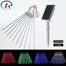 Meteor Shower Rain 10 Tube 360LED Solar String Lights Christmas Xmas Garden 50CM