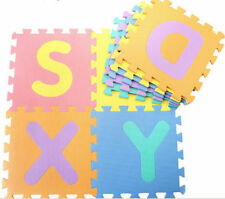 36 PCS Soft Foam EVA Jigsaw Baby Childrens Kids Play Mat Alphabet Numbers Puzzle