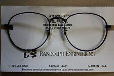 RANDOLPH ENGINEERING R262W99-G black Eyeglasses Frame USA Mod RE 251 black 140mm