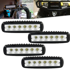 4pcs 6INCH 18W CREE LED WORK LIGHT BAR DRIVING FLOOD BEAM SUV ATV UTE JEEP TRUCK