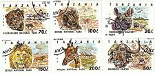 TANZANIA - Bustina 6 francobolli serie ANIMALI DELLA SAVANA