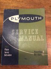 Vintage Original 1955  PLYMOUTH Plaza Savoy Belvedere Service Manual P-55-501
