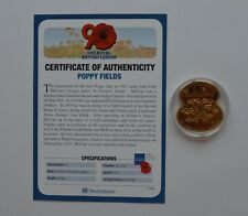 More details for royal british legion poppy fields 2011 guernsey £5 coin coa