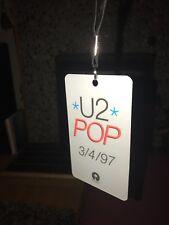 SupEr Rare! U2 Pop 3/4/97 Island Records Plastic Promo Pass/Badge/Lanyard!